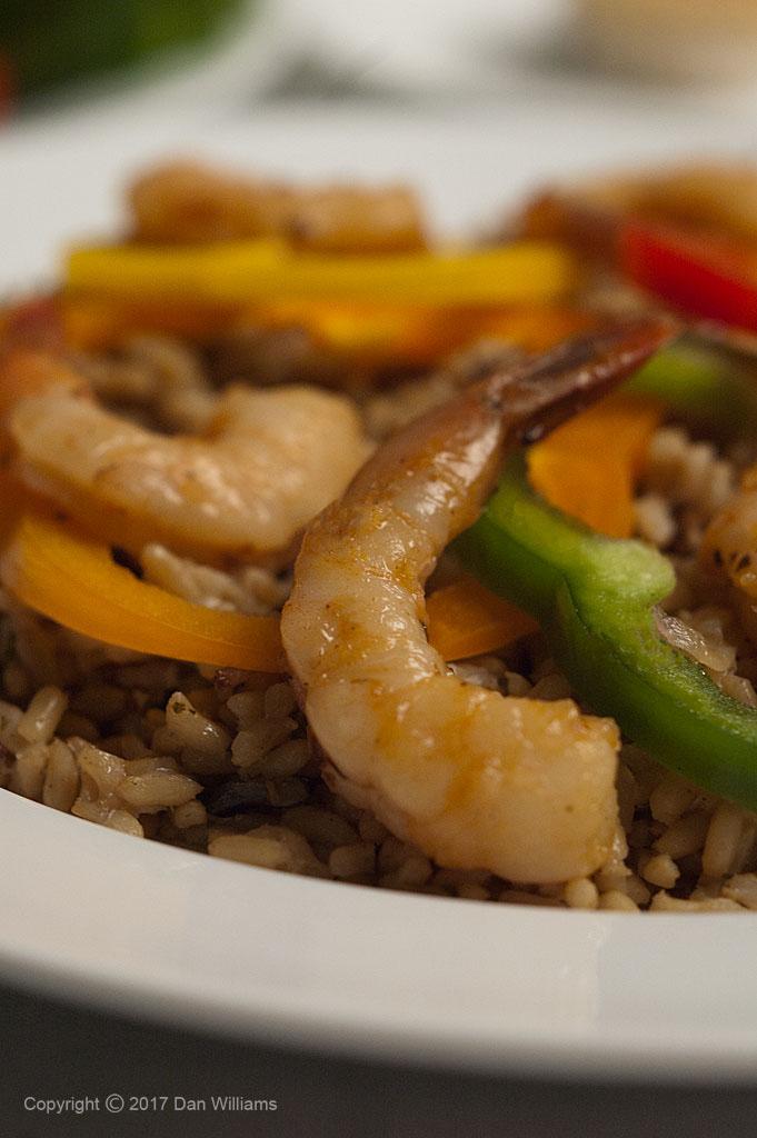 Shrimp & Rice Entree Close Up