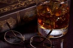 Glass of Bourbon & a Book