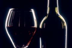 Wine Glass & Bottle Dramatic Lighting