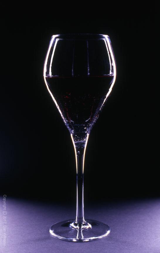 Glass of Wine in Dramatic Lighting